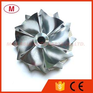 RHF55 46.50 / 60.00mm 6 + 6 lâminas de Alto Desempenho Turbo Billet Compressor roda / Alumínio 2618 / Roda do compressor de moagem para Subaru VF53