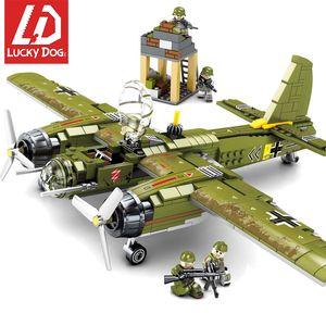 Çocuklar Boy S200112 için LegoiNGly Ordu Araç Oyuncaklar ile uyumlu Airplane bombalamak 559 adet Askeri Yapı Taşları Ww2