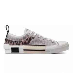 Eğik Erkek Lüks Tasarımcı Ayakkabı Bayan Moda B22 B23 B24 B01 B02 Ayakkabı Çizmeli SICAK Çiçekler Teknik Tuval B23 Yüksek Top Sneakers