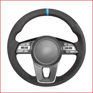Cubierta de rueda negro de ante mano cose cómodo suave de dirección para Kia K5 Optima CEE'D Ceed 2019 Cerato Forte (AU) 2018-2019 Piezas