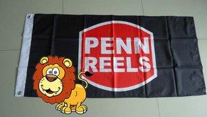 penn reels flag, corpenn reels banner,90X150CM size,100% polyster 100% polyester 90*150cm,Digital Printing