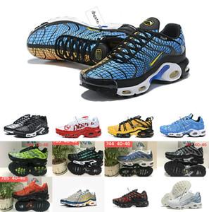 2019 Nuevo Diseñador de Calidad Superior TN shOes Malla Transpirable Chaussures Homme Tn REqUin Noir Casual Men Running ShOes Tamaño 7-12