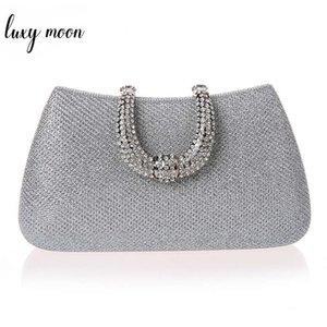Luxy Moon Femmes Cristal U Diamant Fermoir Pochettes Paillettes Argent Sacs De Soirée Or Clutch Party Bourse Femme Sac À Main Y19051702