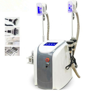 Hot zwei Griffe Cryolipolysis Fett Einfrieren Fat Freeze-Cryo-Form Vakuum Körper schlank Maschine mit 650nm Lipo Laser Cavitation RF Für Salon
