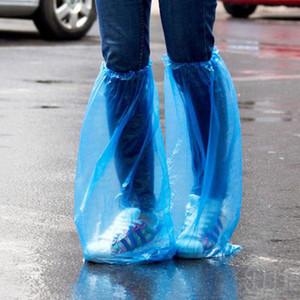 Sapatos descartáveis Outdoor propés Disposable PE Grosso Rainy Day limpeza do tapete tampa azul capas impermeáveis