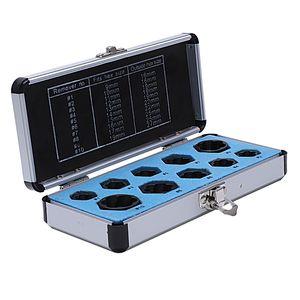 SHGO HOT-10PCS التالفة إزالة بولت الجوز المسمار مزيل النازع مجموعة البندق إزالة المقبس أداة الأسود 9-19mm