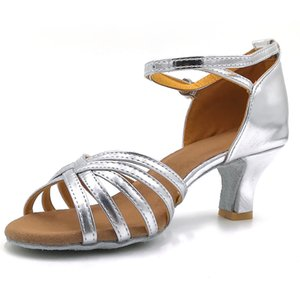 Sandals in Ladies Women's Color Fashion Rumba Waltz Prom Ballroom Latin Salsa Dance Shoes Sandals Footbed Platform Flat Shoes
