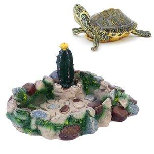 Sürüngen Kaplumbağa Su Kaplumbağası Lizard Snake için 1 adet Pet Gıda Kabı Sürüngen İçme Bulaşık Paletli Gıda Bulaşık Pet Malzemeleri