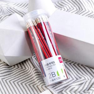 지우개 고무 헤드 연필 육각로드 연필 50PCS를 가진 새로운 HB / 2B Peicils 높은 품질 학생 쓰기 연필 / 배럴 도매