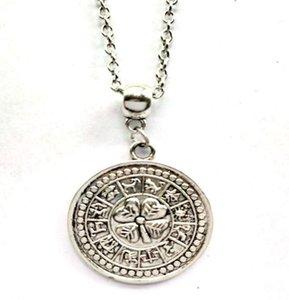 Tetragrammaton Pentagram geri dönüşümlüdür Burç Kolye kolye Vintage Gümüş Sihirli Yaka gerdanlık Gotik Cadı Kolye Takı Kadınlar Hediye