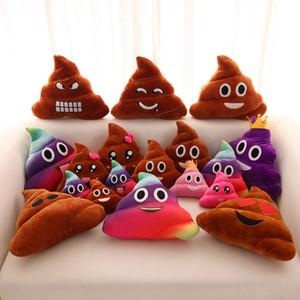 Engraçado Emoji Travesseiro Bonito Merda Poop Almofada de Pelúcia Brinquedo Almofada de Pelúcia QQ Expressão Travesseiros Criativos Para Casa Decorar Presentes