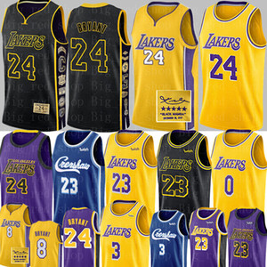 NCAA LeBron James 23 Jersey Anthony 3 Davis Kyle 0 Kuzma Basketball Jerseys Bryant Jersey Universidade Crenshaw
