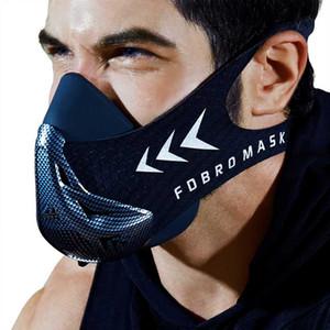FDBRO фитнес тренажерный зал тренировки спортивная Маска Велоспорт маски бег кардио тренировки высокая высота защитная дыхательная маска 3.0