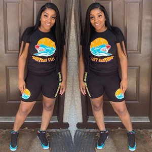 Trajes de verano camisetas shorts 2pc Equipos juegos de la ropa Establece FLYY Ropa cartas mujeres del diseñador 2pcs
