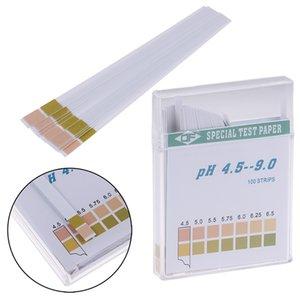100 قطع ph اختبار متر شرائط عباد الشمس ورقة PH4.5-9.0 حمض القلوية ورقة اختبار لعاب المياه اختبار البول