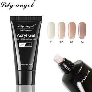 Lily Angel'ın 30ml Akrilik Jel Kristal Tırnak Poly Jel 36 Renkler Kolay Tırnak Uzantıları SJJ-1-36 için Hızlı Kurutma Akril Kolu