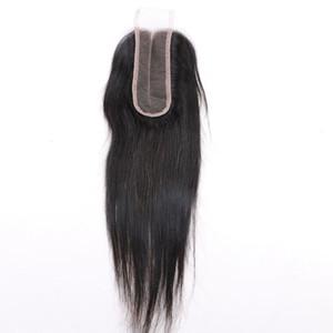 Chiusura brasiliana dei capelli 2X6 del Virgin dei capelli non trattati Lisci i capelli superiori ricci dei capelli umani della parte centrale Estensioni dei capelli della parte centrale
