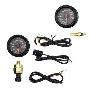 2inch LCD Car Racing Modificado temperatura do óleo calibre + Oil Pressure Gauge W Sensor