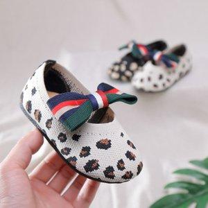 Çocuk Tasarımcı Prenses Ayakkabı Moda Bow Leopar Sandalet Kızlar Rahat Tek Ayakkabı Çocuk Casual Nefes Sandalet Üst Quanlity