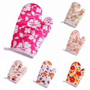1pc Duplas antiderrapante Glove Forno Cotton Mitts Microondas Luva Heatproof Mitten cozinha que cozinha espessamento Forno Mitt