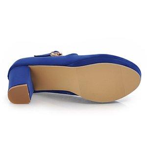 Dilalula 32 43 Высокие Квадратные Каблуки Пряжка Ремень Офисные Насосы Женщины Платформа Весна Осень Обувь Женщина Партия Знакомства Женская Обувь