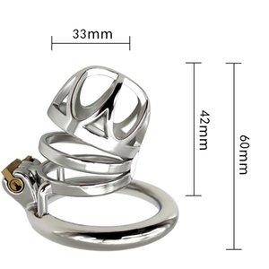 قفل جهاز القضيب الجنسي غير القابل للصدأ منتجات معدنية رجالية رجال قفص العصافير السجن CB6000 قفل الصلب jj chastity ucxdc