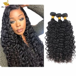 Wet and Wavy Water Wave Hair Weft Bundles Hair Virgin Remy Human Hair Weaves Weft 10-30inch Natural Color Double Weft