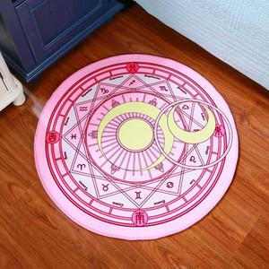 Enfants Tapis Chambre Cartoon Rose Sakura Cercle Magique enfants Jouer ronde Carpet Chair Ordinateur Hanging panier Puzzle Mats