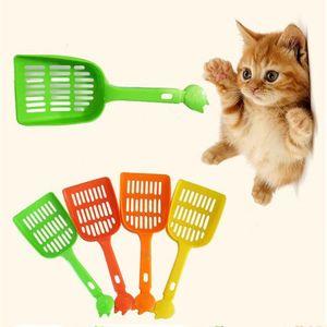 Pet Spade plastique Pet fécal Nettoyage Spade net Cat Dog Tabouret Pelle Pet fécal Nettoyage Spade avec poignée Multi Color Cat DWD671 Supplies