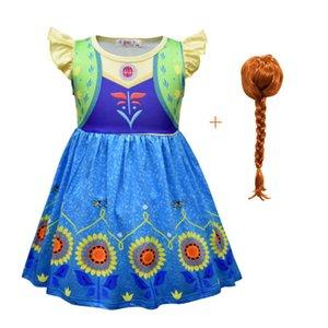 Frozen 2 Anna Princess Dress Dress Girl Sunflower Cosplay Halloween Kid Costume Girl Party Dress