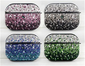 Роскошный блестящий блестящий Кристалл сияющий Bing для Airpods 1/2/3 4 цвета чехол для Apple Airpods pro чехол для Air pods 3