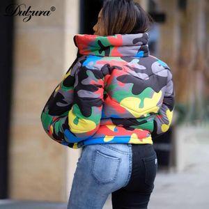 Fashion-camouflage women short duck down jacket outerwear bubble coat streetwear clothes 2019 autumn winter korean boyfriend