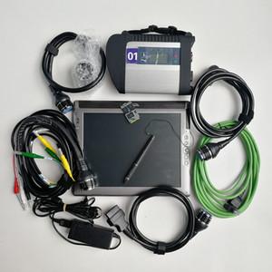 Auto Ferramenta de Diagnóstico V03.2021 Soft-Ware para Super MB Star C4 SD LE1700 4G Tablet usado com 480GB SSD