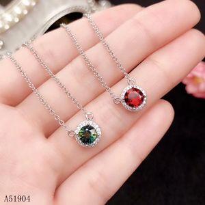 KJJEAxcmy Boutique Jewelry 925 STERLING SILVER INLAIDA NATURAL GARNET Piedra preciosa collar femenino Colgante PRUEBA DE SOPORTE