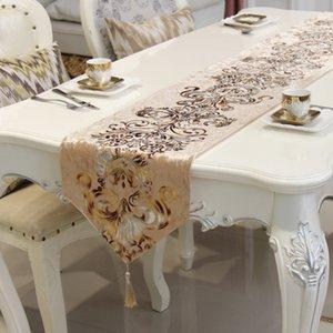 Runner Chemin de table Suede Runner di lusso di lusso neoclassico occidentale con nappa pendente caminos de mesa modernos