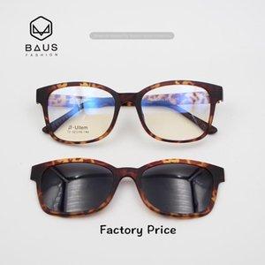 PK 72 Ultem MemorySunglasses Magnetic Clip On Sunglasses Optical frames with magnetic sunglasses Polaroid round eyeglasses