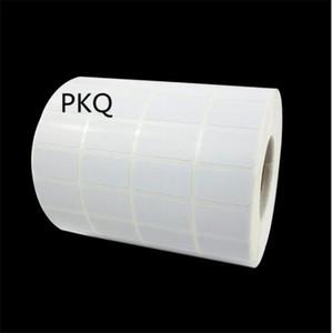 Cadeau cadeau 20x5mm / 35x20mm Petite autocollant blanc en papier pour imprimante à transfert thermique, étiquette adhésive