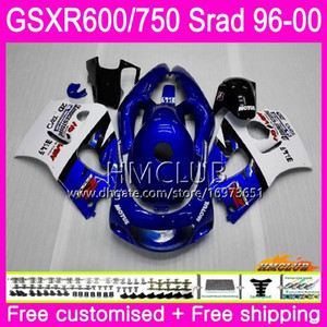 Body For SUZUKI SRAD GSXR 750 600 1996 1997 1998 Factory blue 1999 2000 Kit 1HM.16 GSX-R750 GSXR-600 GSXR750 GSXR600 96 97 98 99 00 Fairing