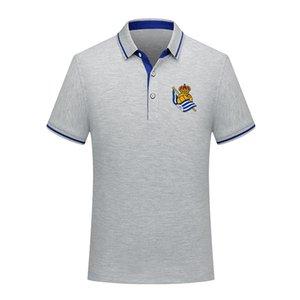 Polo Real Sociedad uomini di calcio Polo calcio a maniche corte polo di formazione Moda Sport di polo di calcio di calcio T-shirt Jersey Uomo