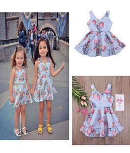 5pcs lot Kids Baby Girls Clothing Princess Dresses Animal cartoon elephant Dress Sleeveless kid Girl Flouncing Sundress 1-6Years