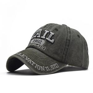 2020 nouveau coton fait dépérir lavé casquette de baseball de broderie 1962 extérieur version coréenne de l'été chapeau de soleil bouchon mâle