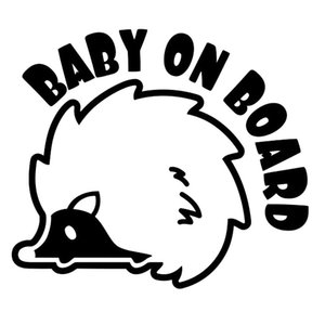 12.7cm*10.8cm Baby On Board An Interesting Hedgehog Vinyl Car Sticker Cute And Interesting Fashion Sticker Decals