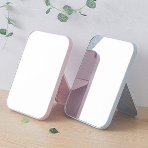 Specchio portatile di trucco da viaggio in pelle Desktop Forte pieghevole da tavolo compatto specchi cosmetici Vanity supporto porta specchio regalo