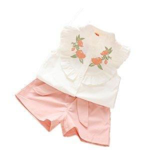 1 set baby KIDS girls Summer tank outfits 1-3 T Toddler kids baby girls outfits cotton shirt+Shorts Pants & setT3aN#