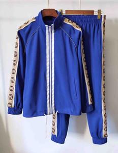 19 anos sportswear moda paletó correndo sportswear terno carta esportes dos homens impressão fino trilha roupas capuz e conjunto de campos Medusa