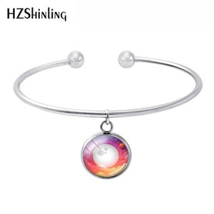 2018 New Planet Moon Sun outer Space Cabochon Image Bracelet Handmade Fashion Jewelry Gift for Girls Women Bracelets Accessory