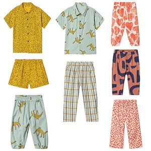 New Arrivals BC Brand 2020 Spring Summer Children Pajamas Set Baby Boys T shirts Tees Pants Soft Gift Girls Boutique Outfits Y200525