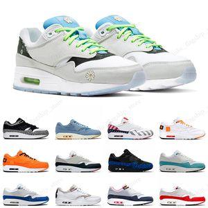 Nike Air Max 1 x Atmos Top qualidade Atmos 1 s Mens Running Shoes 87 s Formadores 87 OG Anniver Obsidiana Parra Leopard O Que A Impressão Esportes Designer de Tênis Tamanho 36-45