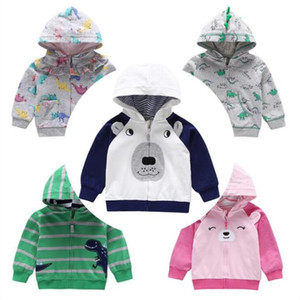 Garçons Hoodies Cartoon Dinosaur Sweat Kid Designer Vestes coton Casual manches longues Cardigan manteau mode Outwear Jumper Pull C6818
