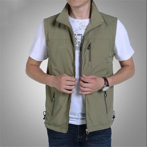 Vests Male With Many Pockets Thin Breathable Multi Pocket Vest Quick-drying Waterproof Waistcoat Sleeveless Jacket Tactical Vest